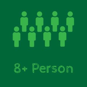 8+ person