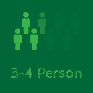 3 - 4 Person